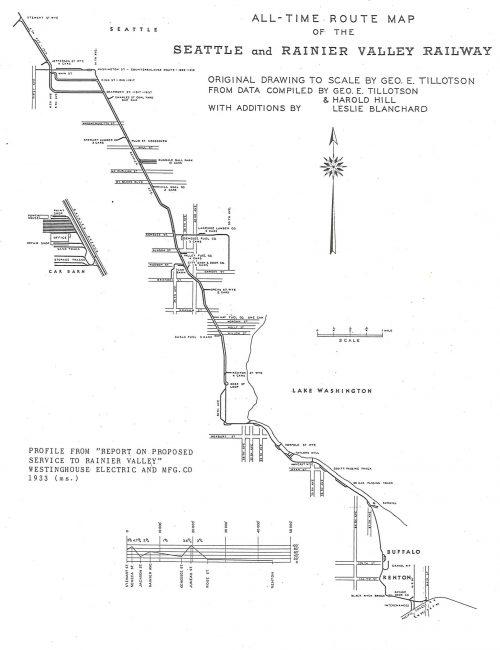Rainier Valley Railroad Map